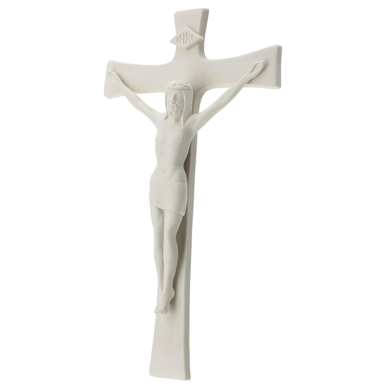 Crucifijo porcelana blanca 35 cm 4