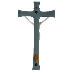 Crucifijo porcelana fondo gris 30 cm s4