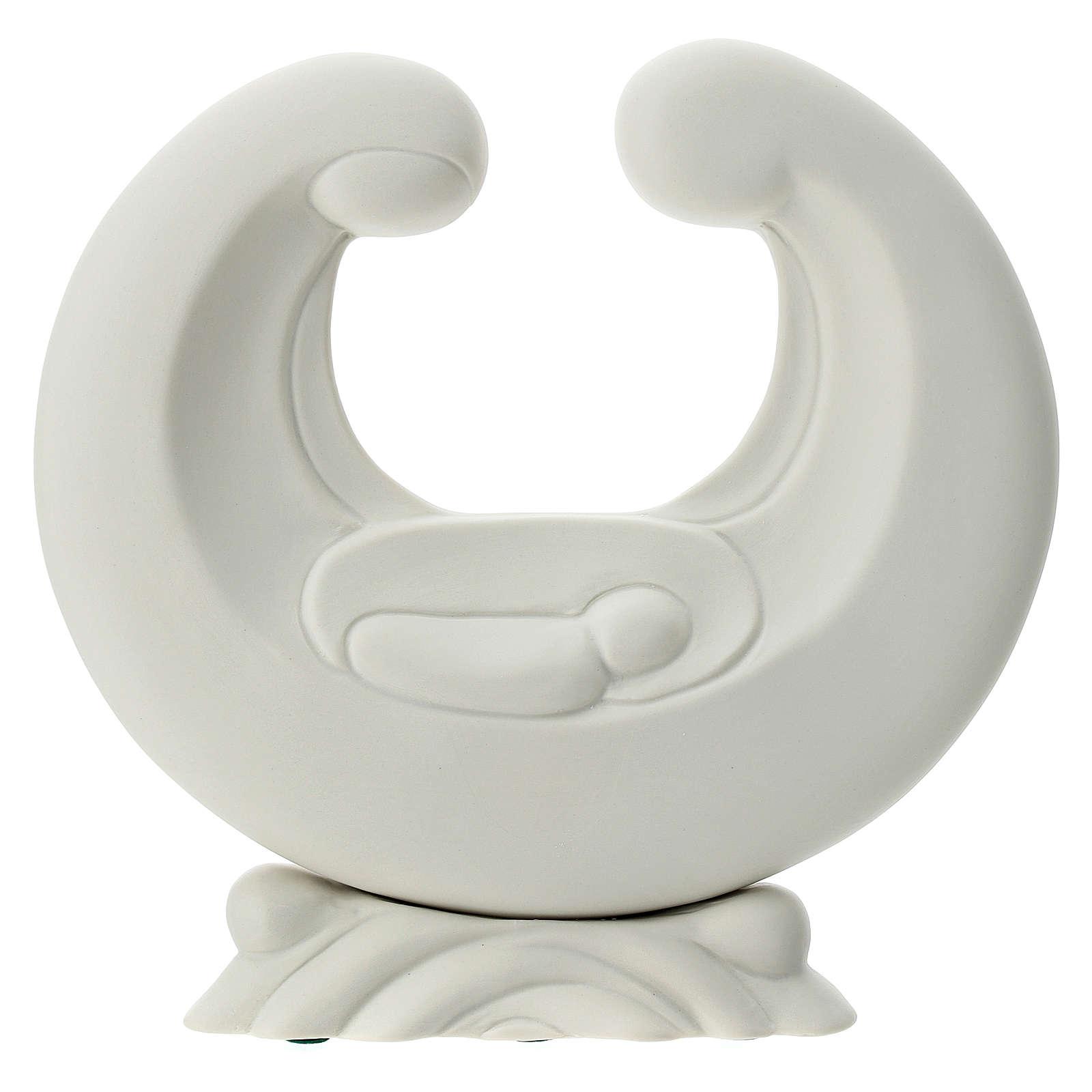 Holy Family in white porcelain 20 cm 4
