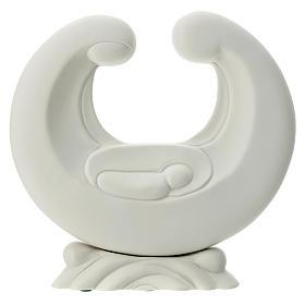 Holy Family in white porcelain 20 cm s1