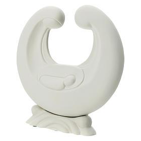 Holy Family in white porcelain 20 cm s2