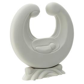 Holy Family in white porcelain 20 cm s3
