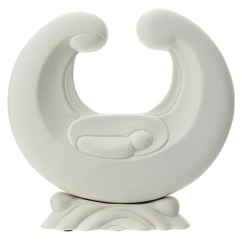 Holy Family in white porcelain 20 cm 1