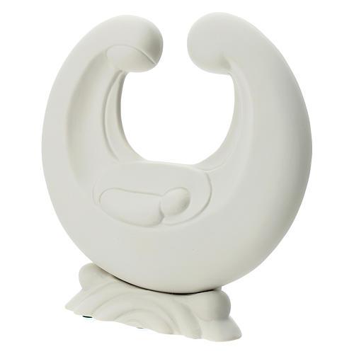 Holy Family in white porcelain 20 cm 2