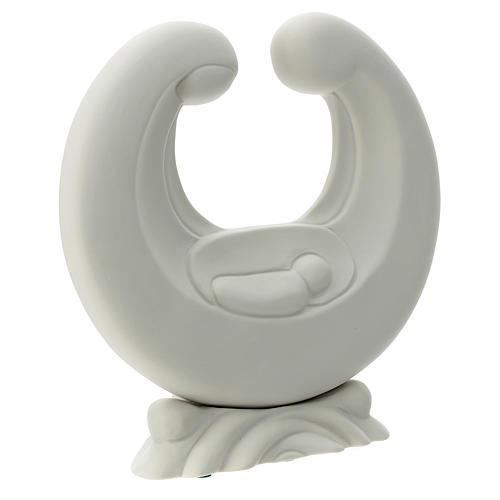 Holy Family in white porcelain 20 cm 3
