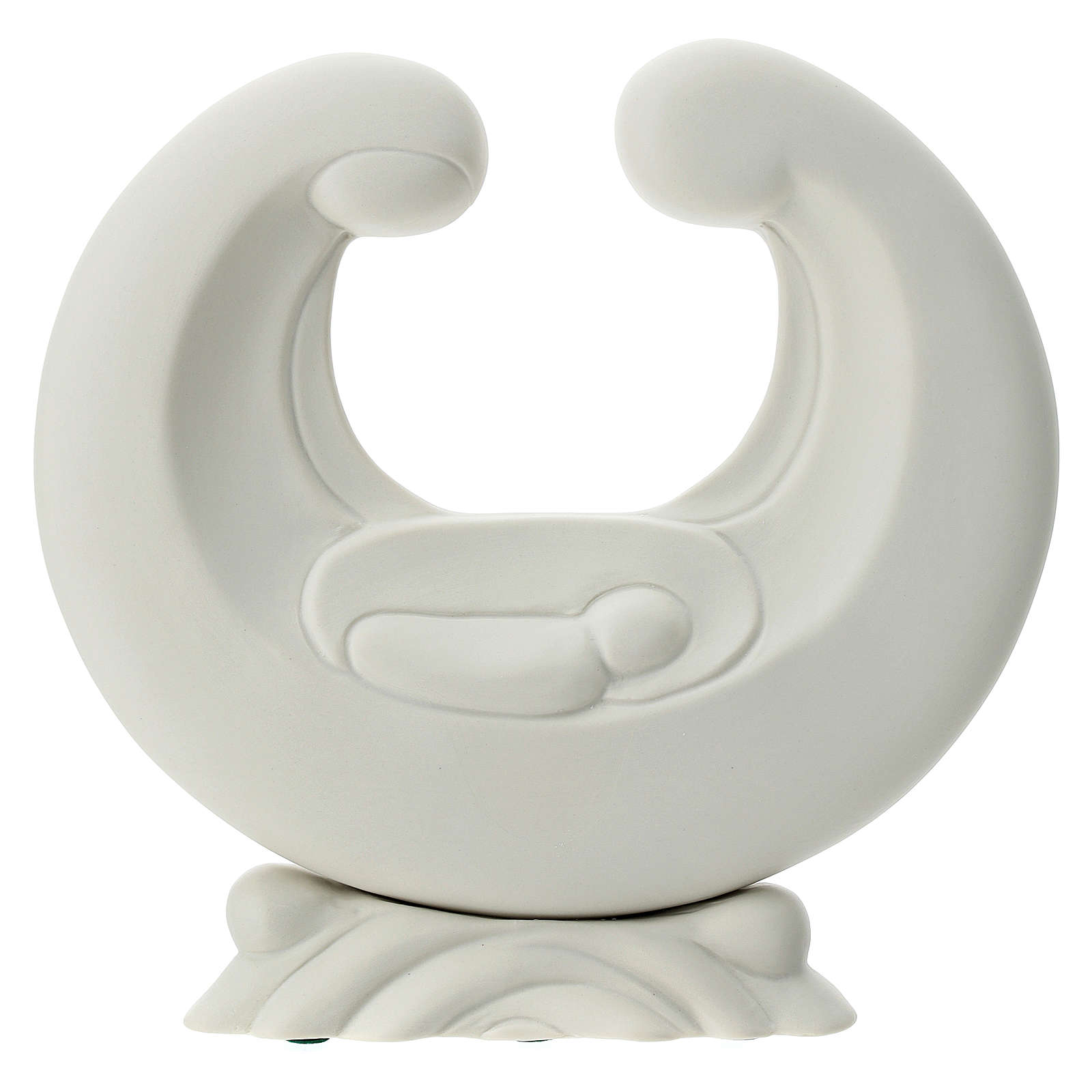 Sacra Famiglia porcellana bianca 20 cm  4