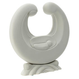 Sacra Famiglia porcellana bianca 20 cm  s3