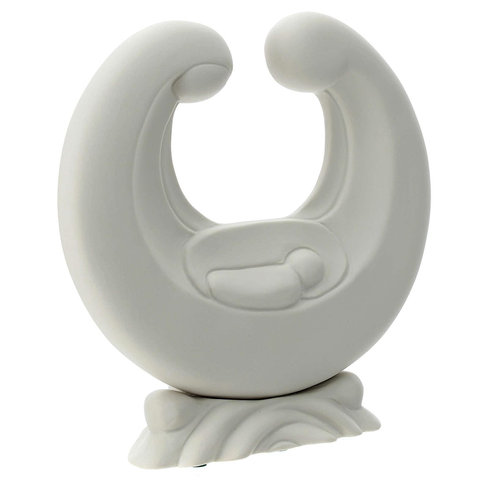 Sagrada Família porcelana branca 20 cm 4