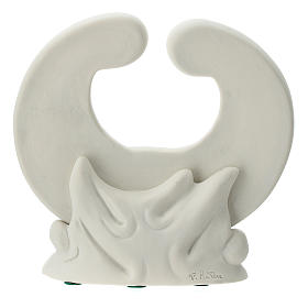 Holy Family in white porcelain 15 cm s4