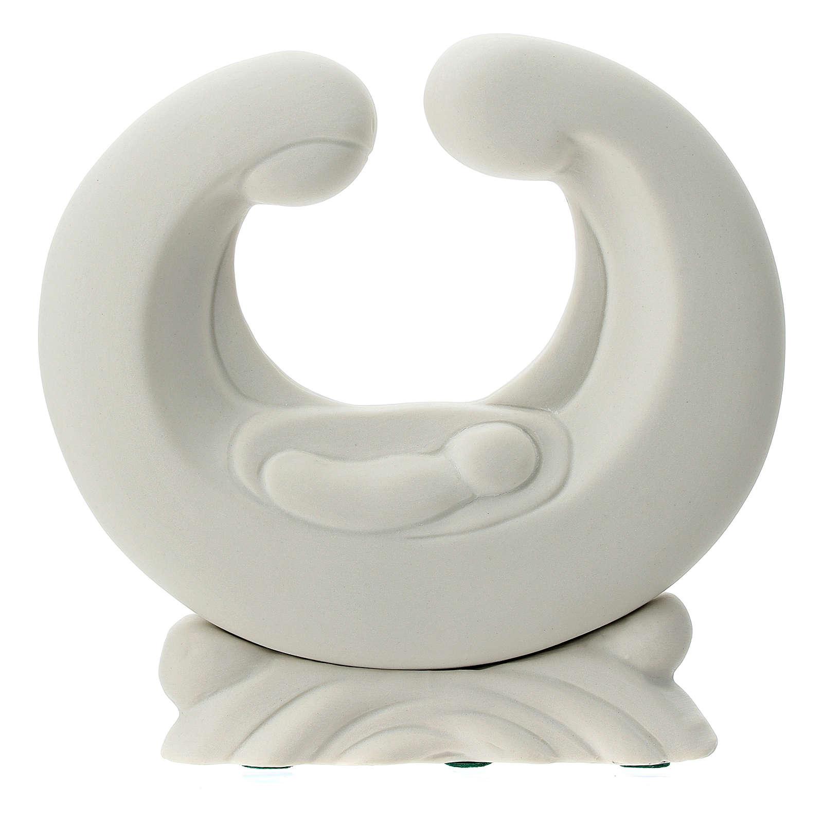 Statua porcellana bianca S. Famiglia 15 cm 4