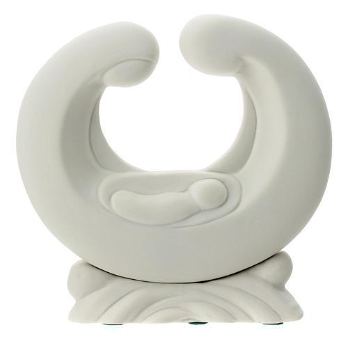 Statua porcellana bianca S. Famiglia 15 cm 1