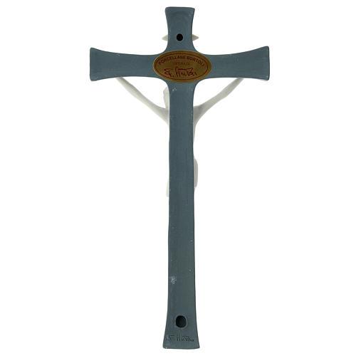 Crucifijo fondo gris porcelana 20 cm 4