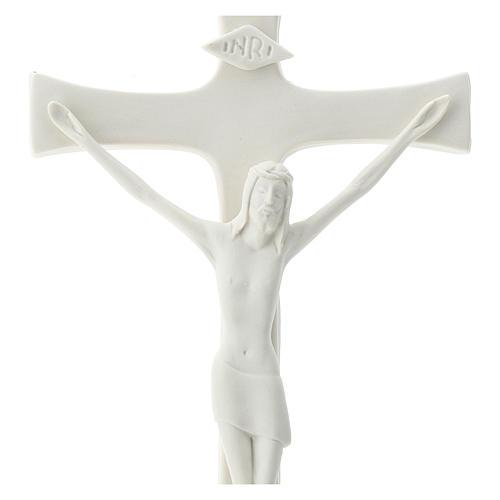 Crucifix porcelaine 20 cm 2