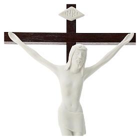 Crucifijo madera y porcelana 35 cm s2