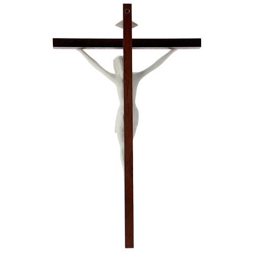 Crucifijo madera y porcelana 35 cm 4