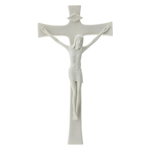 Crucifijo 30 cm porcelana blanca 1