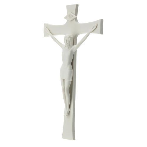 Crucifijo 30 cm porcelana blanca 3