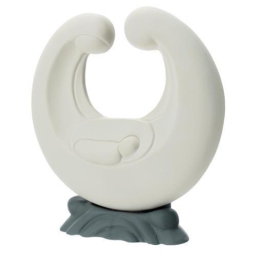 Stylised Holy Family in porcelain grey base 20 cm 2