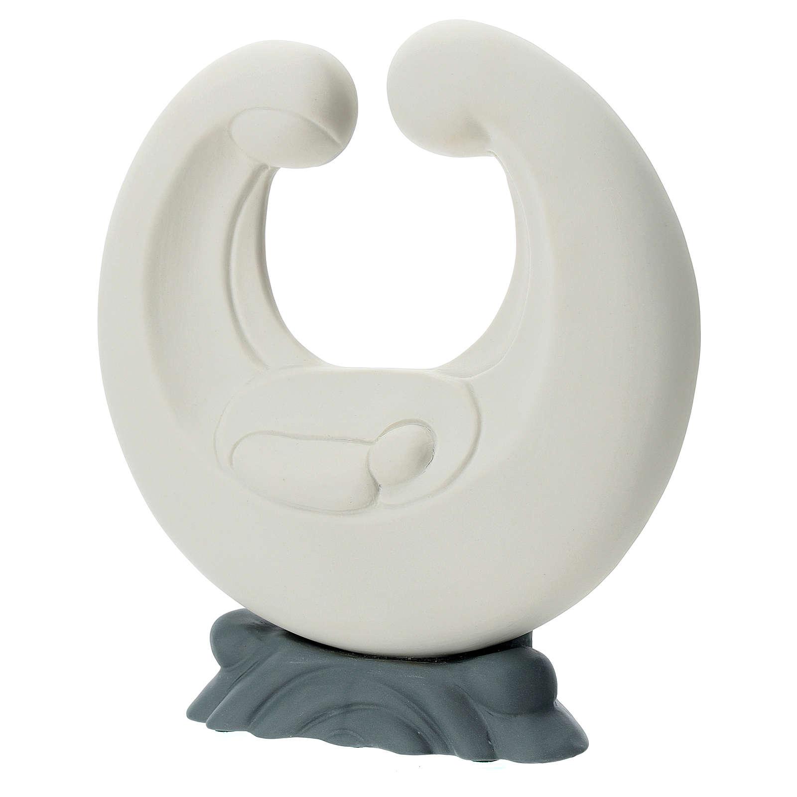S. Familia estilizada porcelana base gris 20 cm 4