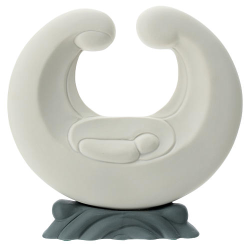 S. Familia estilizada porcelana base gris 20 cm 1