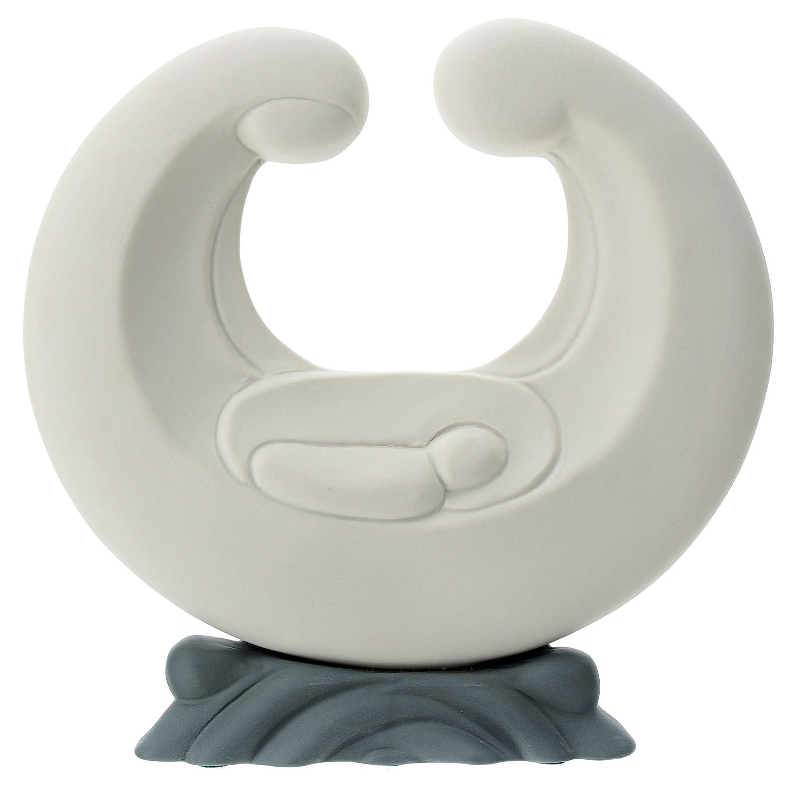 Sagrada Família estilizada porcelana base cinzenta 20 cm 4
