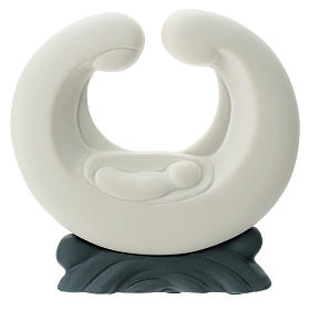 S. Famiglia porcellana bianca base grigia 15 cm s1