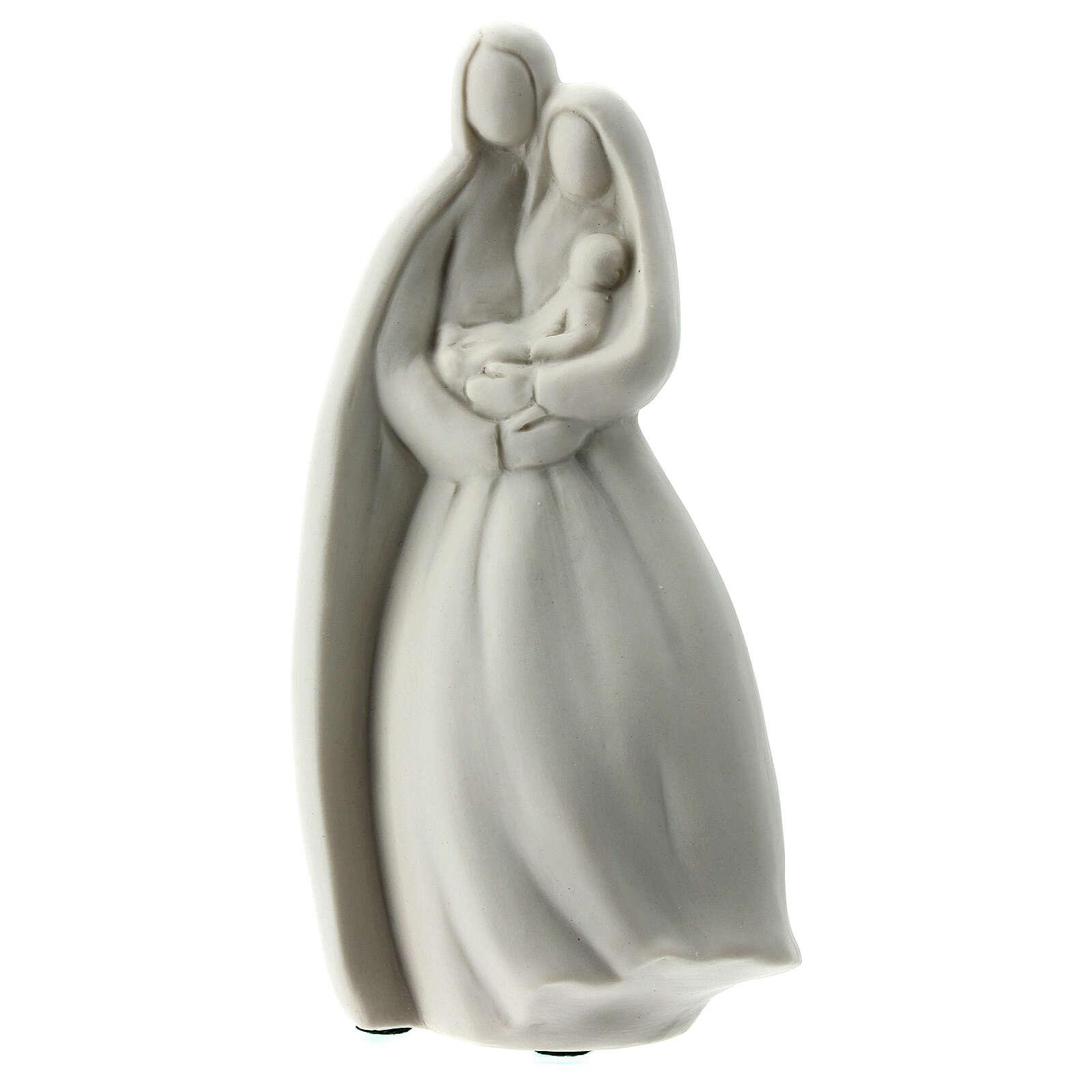 Sacra Famiglia 16 cm porcellana bianca 4