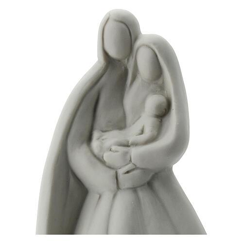 Sacra Famiglia 16 cm porcellana bianca 2