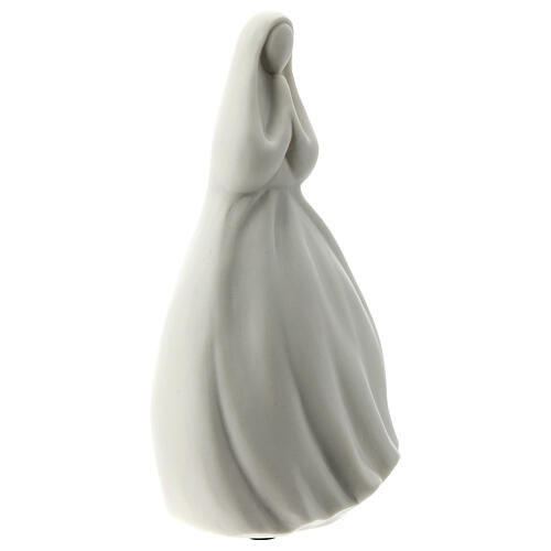 Our Lady with hands joined 6 in white porcelain 4