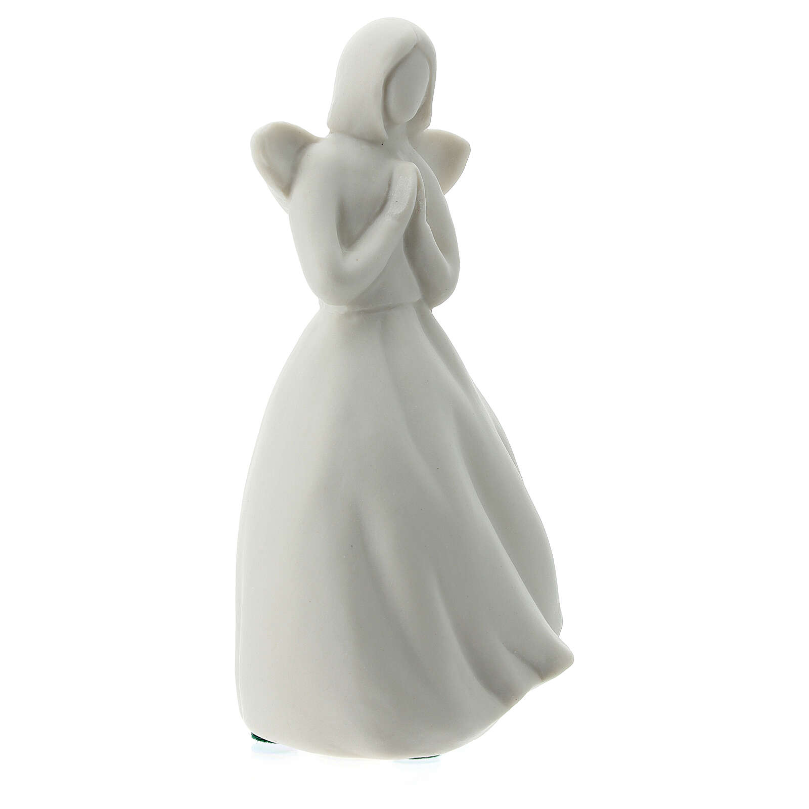 Ángel 14 cm porcelana blanca 3