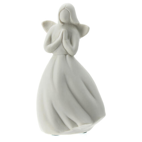Ángel 14 cm porcelana blanca 1
