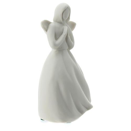 Ángel 14 cm porcelana blanca 4
