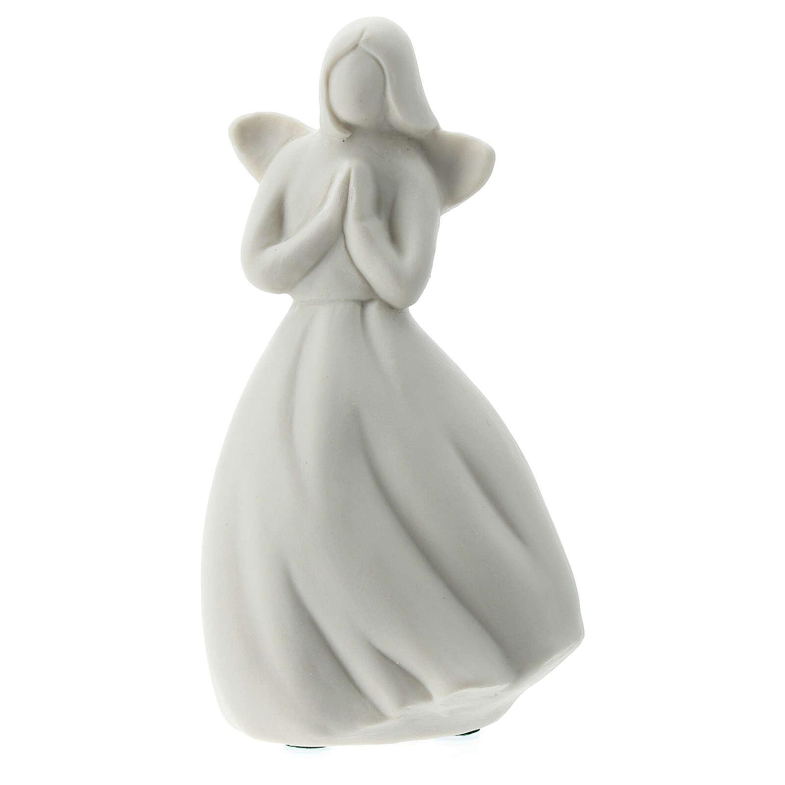 Ange 14 cm porcelaine blanche 3