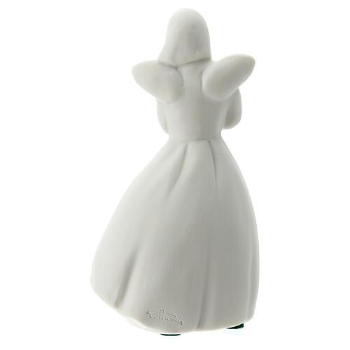 Ange 14 cm porcelaine blanche 5