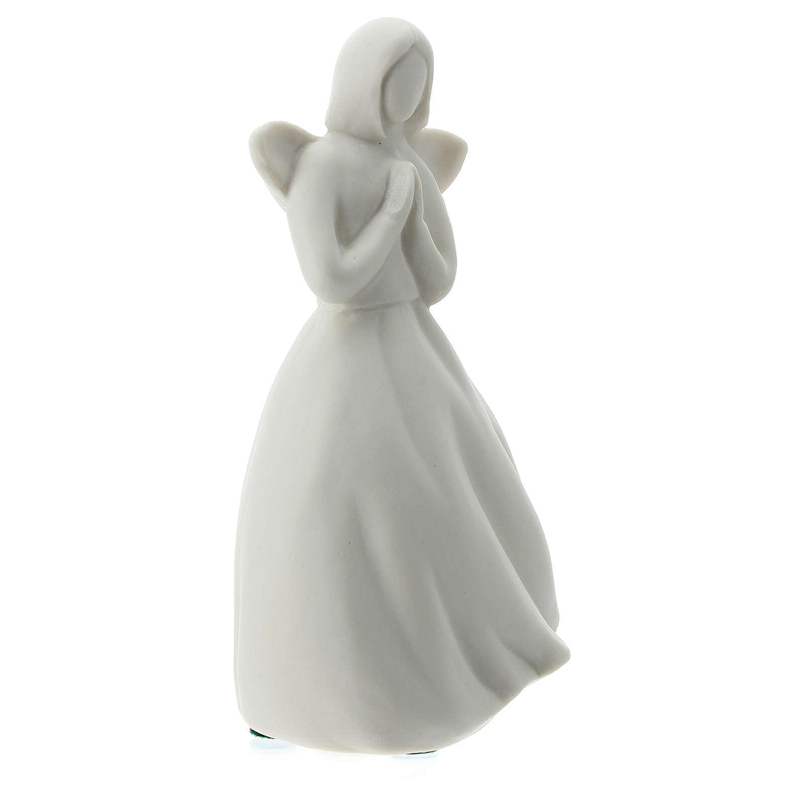 Angelo 14 cm porcellana bianca 3