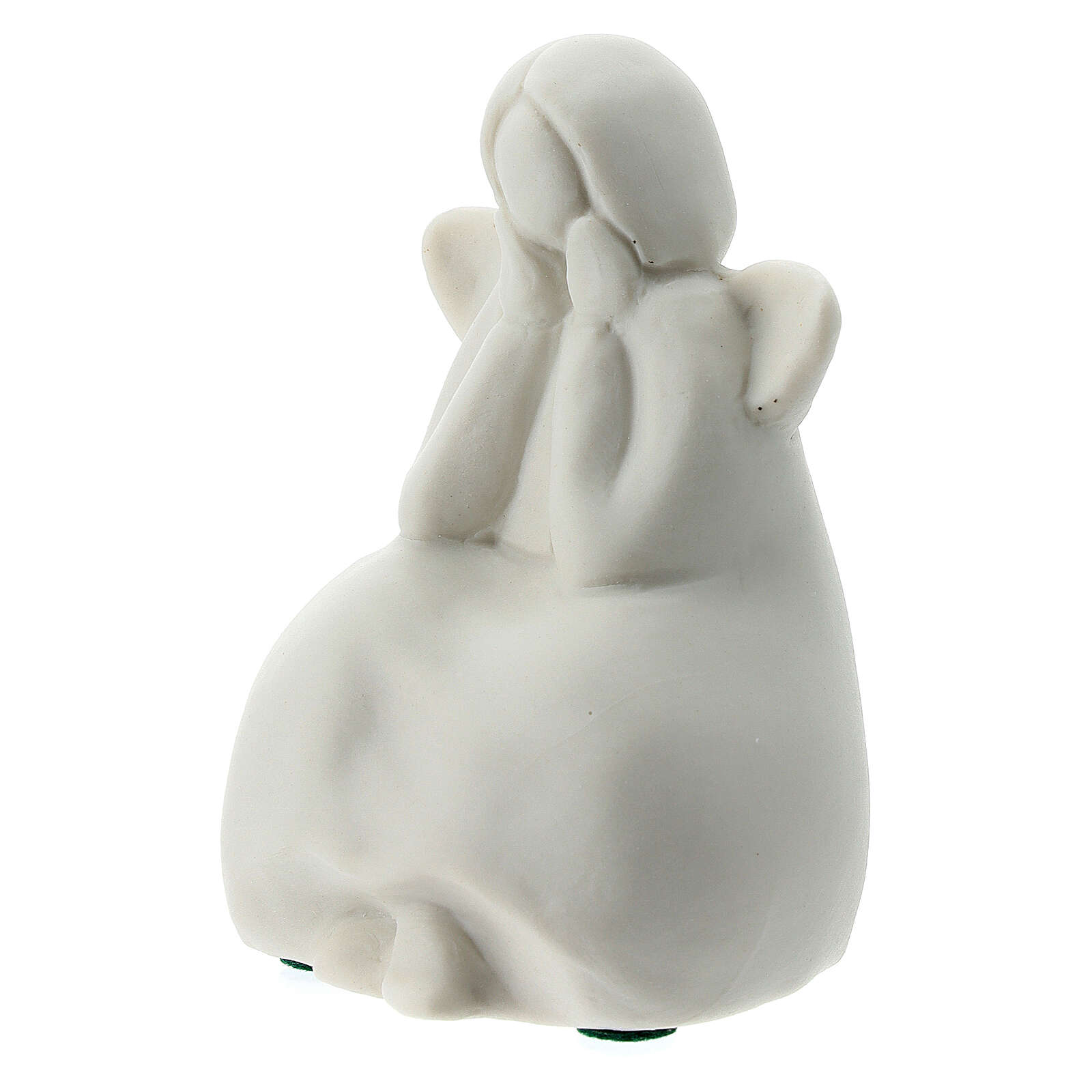 Seated angel 2 1/4 in white porcelain 3