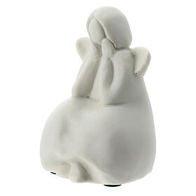 Seated angel 2 1/4 in white porcelain s3