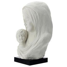 Busto Madonna con bambino su base legno 25 cm s2