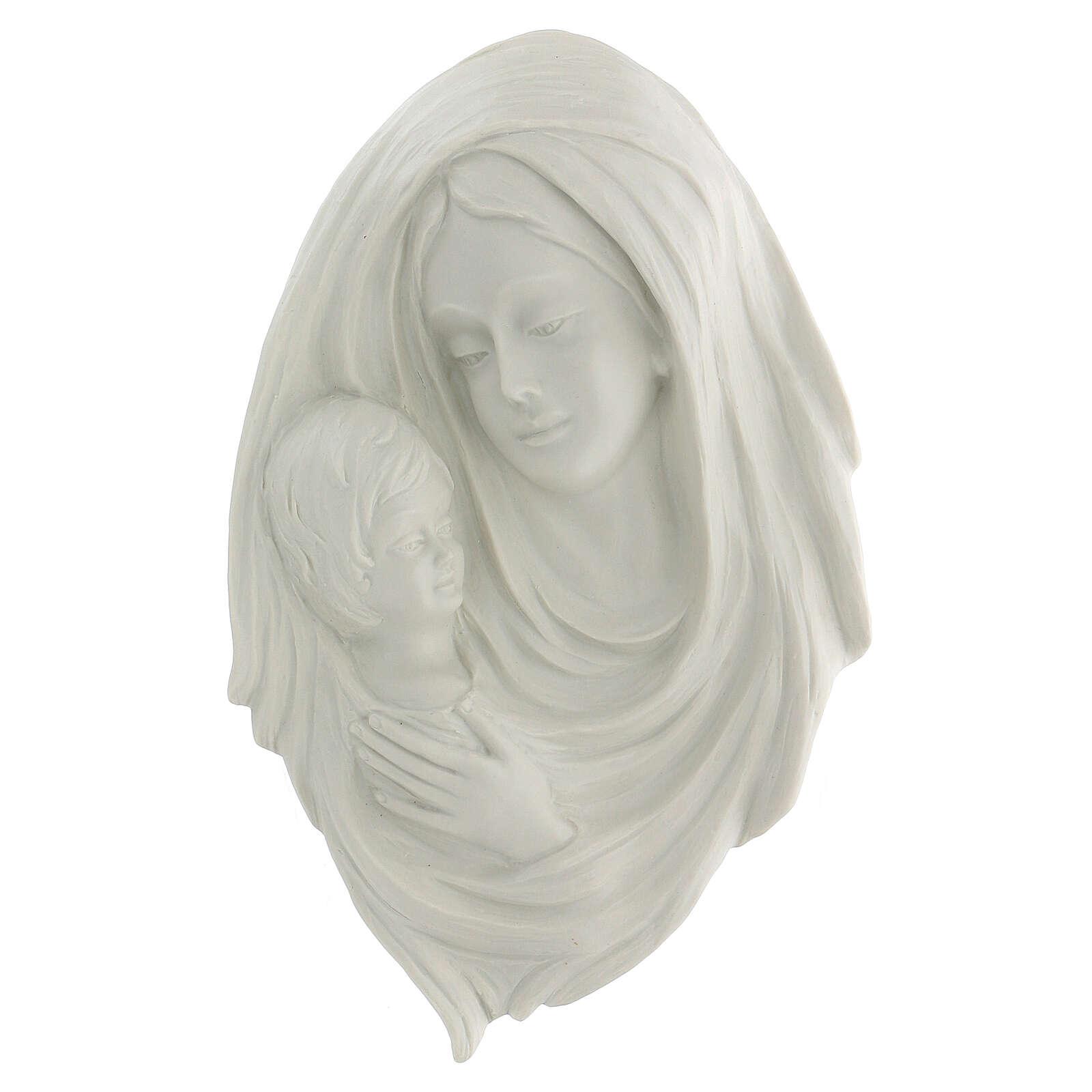 Bassorilievo Madonna con bimbo 30 cm 4