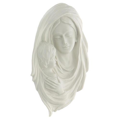 Bassorilievo Madonna con bimbo 30 cm 3