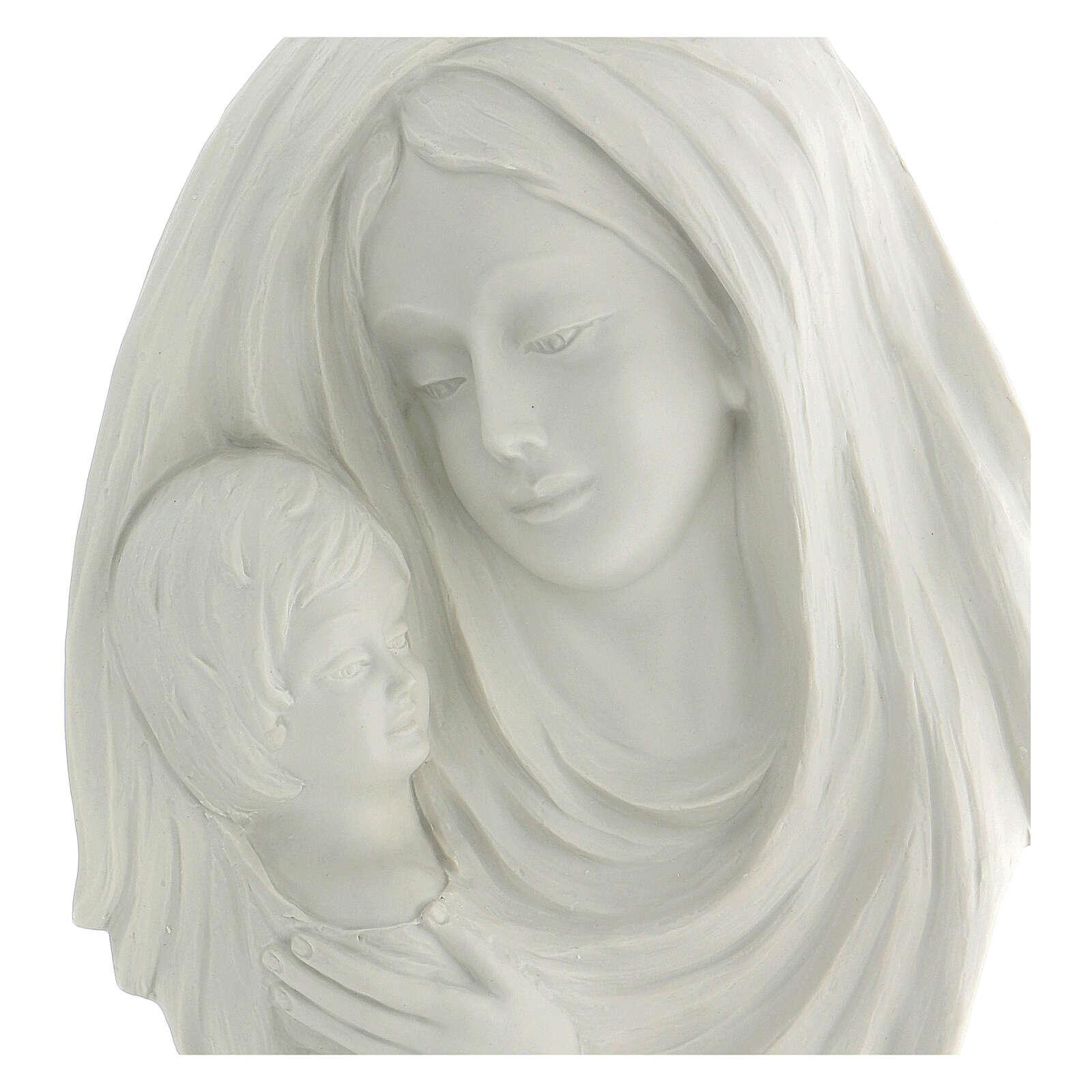 Bassorilievo Madonna con bimbo 35 cm 4