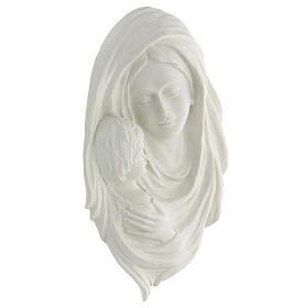 Bassorilievo Madonna con bimbo 35 cm s3