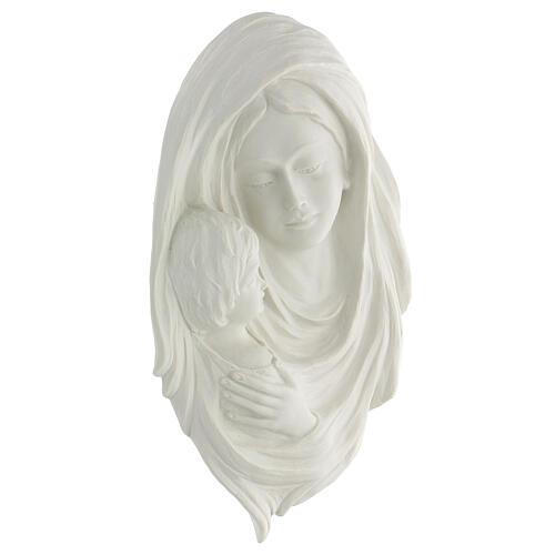 Bassorilievo Madonna con bimbo 35 cm 3