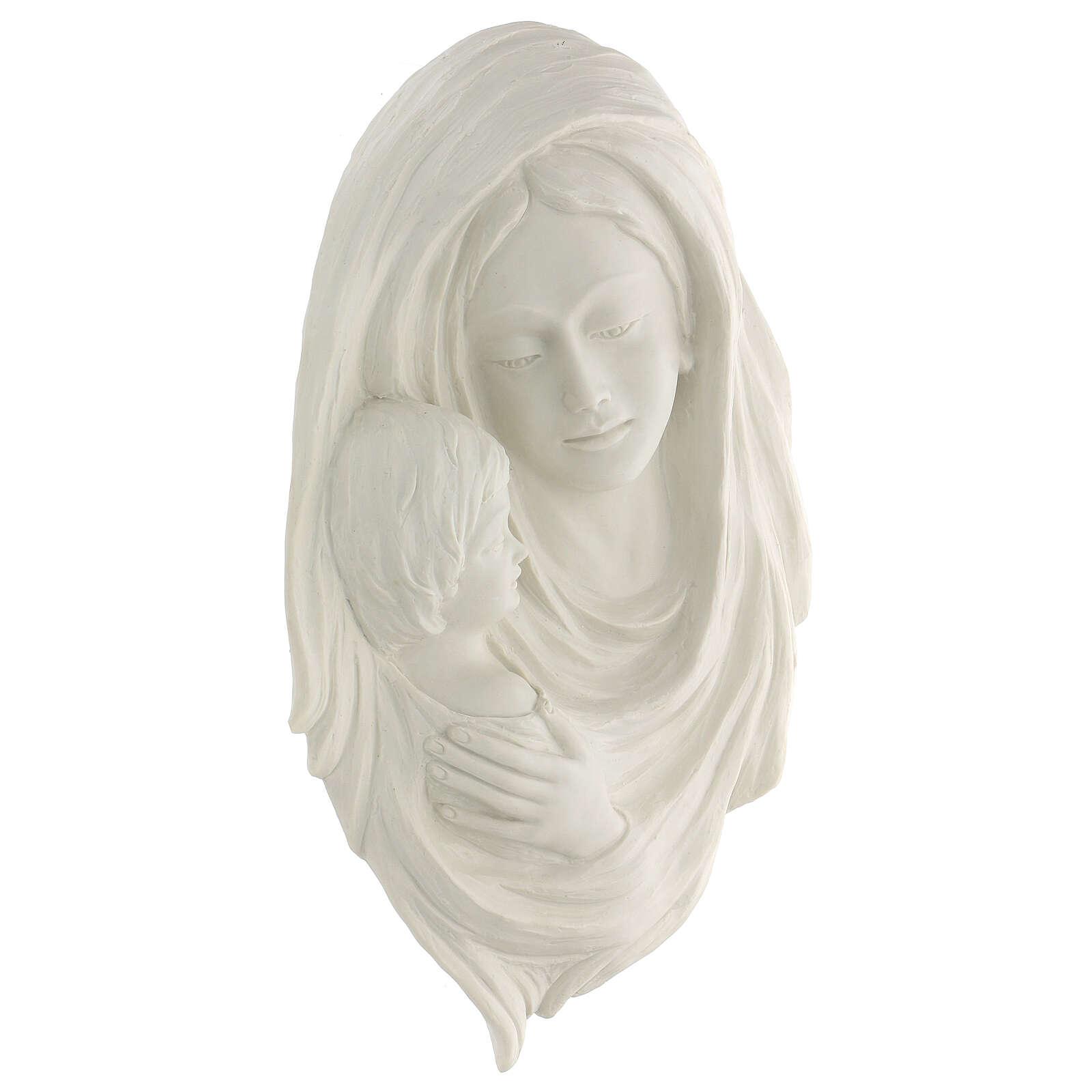 Bassorilievo Madonna con bimbo 40 cm 4