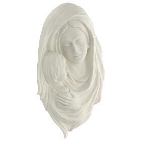 Bassorilievo Madonna con bimbo 40 cm s3