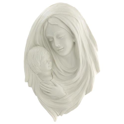 Bassorilievo Madonna con bimbo 40 cm 1