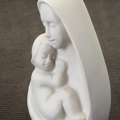 Mother Mary with Jesus bust Francesco Pinton 13 cm 3