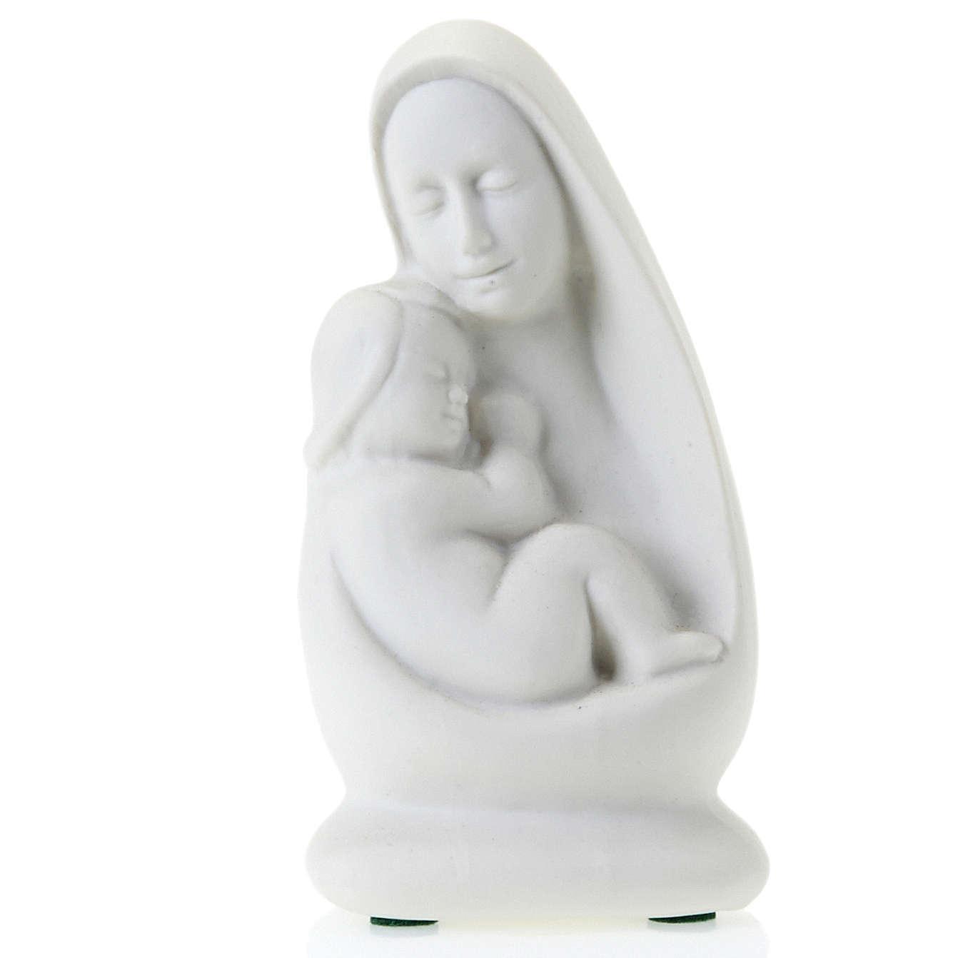 Busto Virgen con Niño Francesco Pinton 13 cm 4