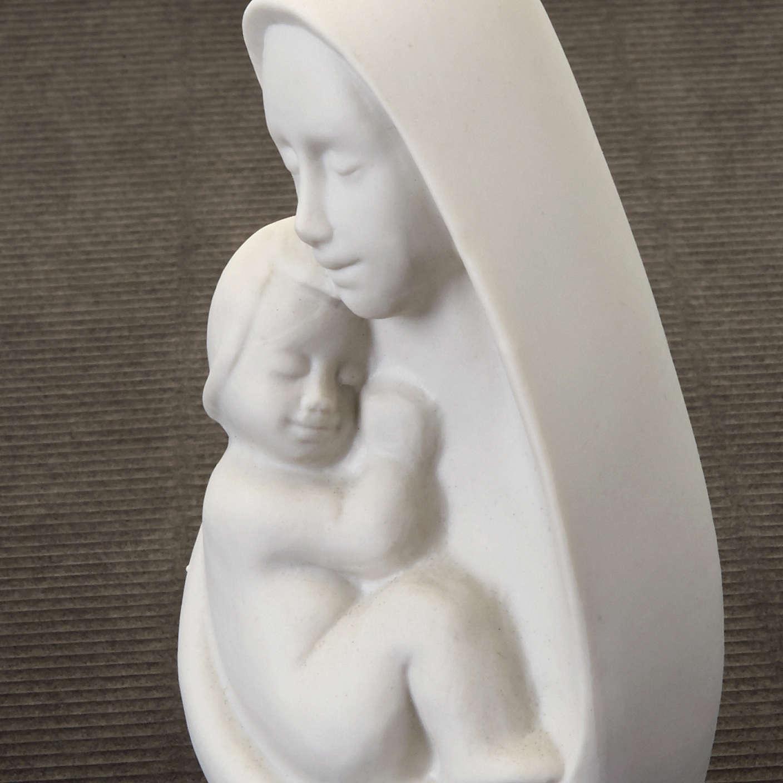 Busto Madonna con bambino Francesco Pinton 13 cm 4