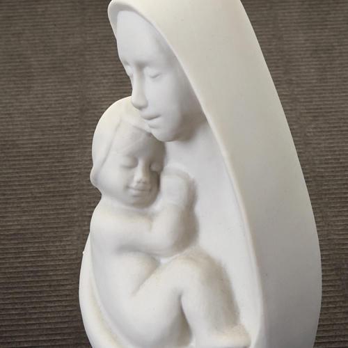 Busto Madonna con bambino Francesco Pinton 13 cm 3